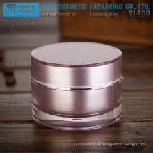 YJ-A50 50g 1 º grado pmma material alta calidad claro buena capas dobles normal tarro de acrílico