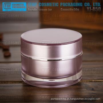 YJ-A50 50g 1º grau pmma material alta qualidade clara bom camadas dobro normal acrílico jar