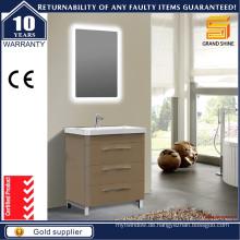 Moderne Kleine Größe Stand Standing Badezimmer Eitelkeiten mit Licht Spiegel