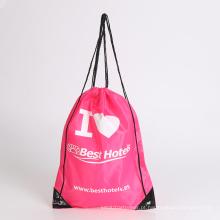 saco de tecido de poliéster com saco de escola de crianças com cordão