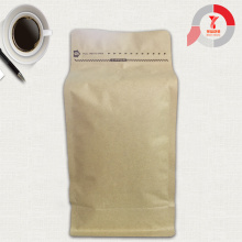 Kraft Paper Square Bottom Coffee bag with valve