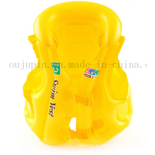 OEM Logo PVC Kids Children Inflatable Safety Life Vest Jacket