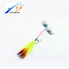 SPL032 cheap fishing tackle spinner blades fishing lure with two hooks