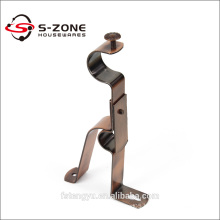 decorative single/double curtain rod wall bracket for curtain hardware