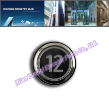 Кнопки KONE Лифт Lift Запасные части Нержавеющая сталь Push Call Button Black KONE