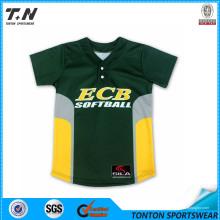 2015 Moda Personalizado Béisbol T Shirts Venta al por mayor