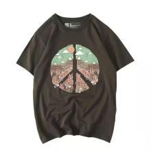 Camiseta de manga corta para mujer con estampado