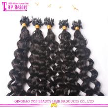 Extensions de cheveux boucle vague normale non transformés anneau micro brésilien