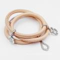 Bracelet en gros en cuir véritable Wrap Bracelet de mode pour les femmes, Bracelet en cuir fait sur commande de charme