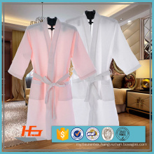 80% Cotton 20% Polyester Waffle Bathrobe For Hotel / Spa