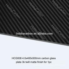UAV Haute Qualité 4.0x400x500mm 300mm * 300mm plaques de fibre de verre de fibre de carbone