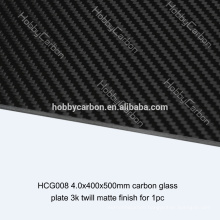 UAV High Quality 4.0x400x500mm 300mm*300mm carbon fiber glass fiber plates