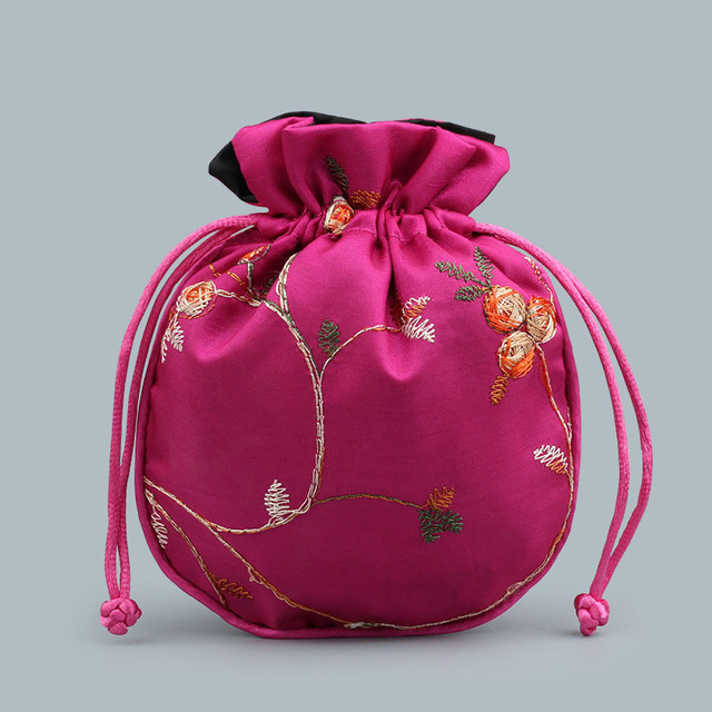 Satin Bag rose color
