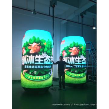 Telão LED inovador para latas