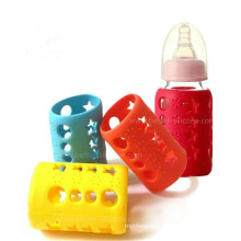Custom BPA-Free Anti-Slip Silicone Glass Baby Bottle Sleeve