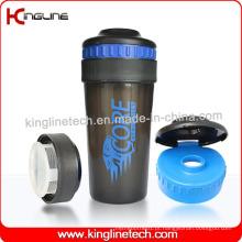 Garrafa protetora de proteína plastificada 550ml com tampa (KL-7025)
