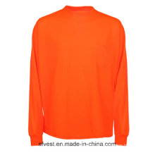 Hohe Sichtbarkeit Reflektierende Sicherheit Langarm T-Shirt