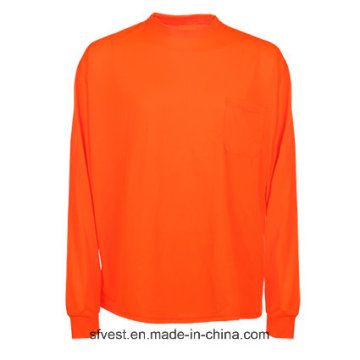 High Visibility Reflective Safety Long Sleeve T-Shirt