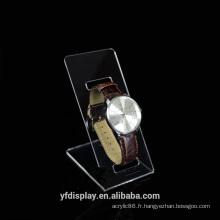 Porte-afficheur de montre acrylique sur mesure