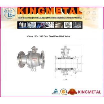 Válvula de esfera fixa de aço fundido de classe 150 ~ 1500