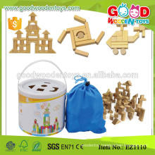 stocked 100pcs Safety Rubber Wood Kids Toys Block