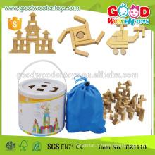 Запасные 100pcs безопасности резиновые деревянные игрушки игрушки блок