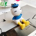 Cute Silicone Donald Duck With Stainless Steel Keychain