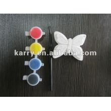 brinquedo diy pintura, brindes promocionais, várias formas de brinquedos de cerâmica