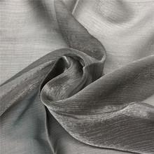 Tissu gris tulle organza brillant pour robe à la mode