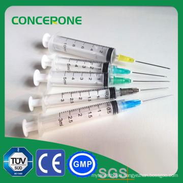 Steriled Syringe Luer Slip/ Lock with/Without Needle
