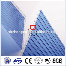 twinwall hollow polycarbonate roofing sheet for greenhouse