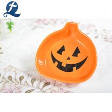 Décoration de citrouille d'Halloween peinte à la main petit plat en céramique
