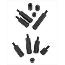 OEM Hobbycarbon nylon noir en plastique mâle à femelle hexagone ou rond