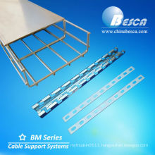 Galvanized Steel Wire Mesh Cable Tray Support with Cantilever Brackets with Cover with Connector