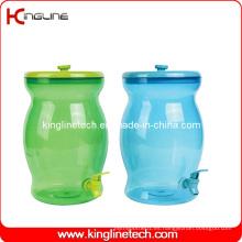 2.5 galones de agua de plástico de agua jarra al por mayor BPA libre con Spigot (KL-8017)