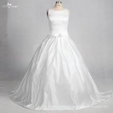 TW0178 Luxo Stain Destacável Bow Ball Gown Vestido de Noiva Vestido de Noiva