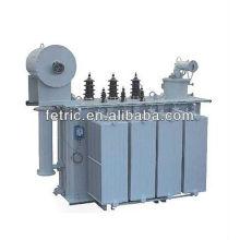 Energía eléctrica transformador inmerso en aceite fase tres