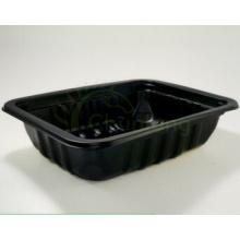 Lebensmittelindustrie Verwendung Supermarkt Display Lebensmittelkonservierung Schwarz Kunststoff Lebensmittel Einwegbehälter