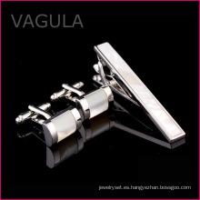 VAGULA madre de perla Tie Bar mar Shell atar perno pistola Black Tie Clip Set (T62281)