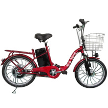 Electric bicycle with basket