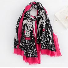 Мода женщин напечатанная вискоза Шелковый шарф (YKY1131)