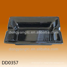 Factory direct sales black custom shape ashtray
