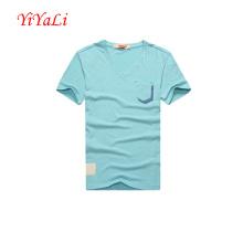 Camisa dos homens Camisa de algodão Business T-Shirt Blusa com decote em V