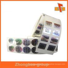 Гуанчжоу поставщика оптовой печати и упаковочных материалов пользовательских самоклеящиеся голограммы нуля этикетки