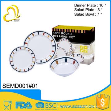 ODM изготовленный на заказ печатать дешевые меламин тарелка миска комплект kitchenware