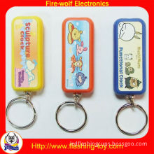 Mini Led Shine Lighting 8 Picture Logo Projection Keychain / Key Chain For Promotion