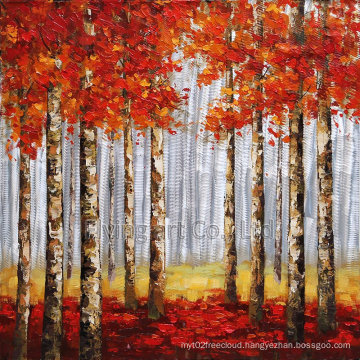 Aluminum Panel Reproduction Art Painting for Trees