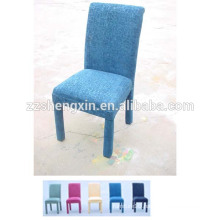 Blue Dining Chair with Cushion, Backrest Dining Chair for Hotel
