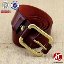 BSCI trading company/copper buckle/one thicken genuine leather belt                                                                         Quality Choice                                                     Most Popular