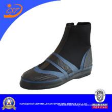 Botas de buceo de neopreno negro y azul de moda (BS-06)